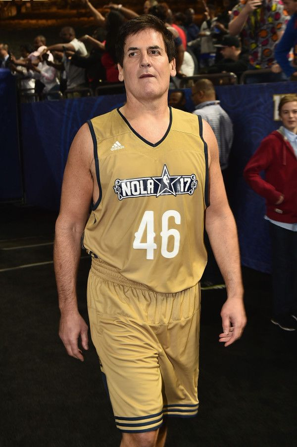 Mark Cuban, owner of the Dallas Mavericks and a thorn in the side of Donald Trump, is needling the president with numbers. Cuban appeared at the All-Star Celebrity Game in New Orleans in a jersey e…