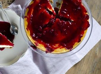 Stekt ostekake med kirsebærsaus | Fru Timian