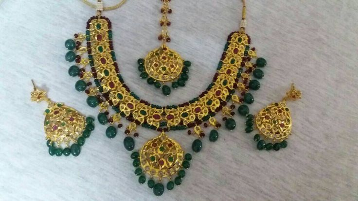 Eid special 10% offer Mughal jewelry stones gold plated