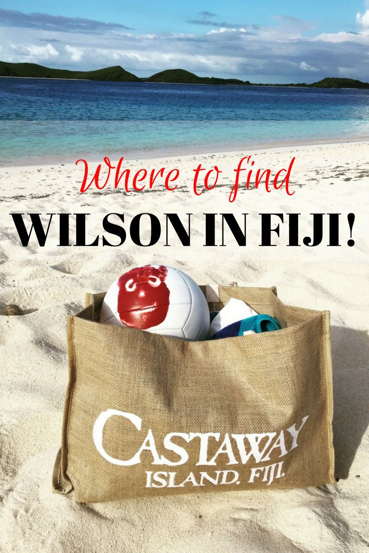 Tom Hanks co-star Wilson the volleyball can still be found on the island they filmed Castaway on, not to mention the gorgeous Fiji island resort Castaway too.  #castaway #fiji #traveltips #islands #travel