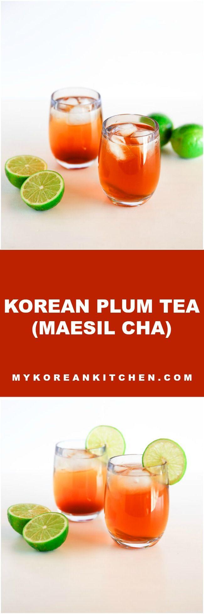 How to Make Korean Plum Tea (Maesil Cha) | MyKoreanKitchen.com