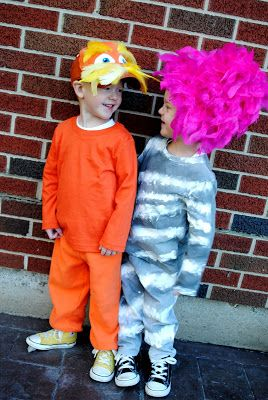 Double the Giggles: {The Lorax} Easy Homemade Halloween Costumes