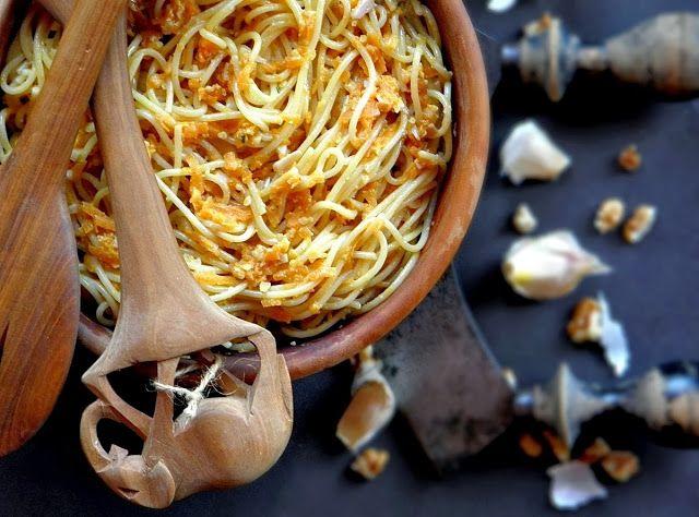 Szellem a fazékban: Sütőtökös, diós spagetti