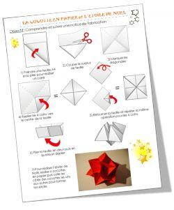 Une idée bricolage pour Noël - glue 6 cootie catchers / fortune tellers together to make a 3D star