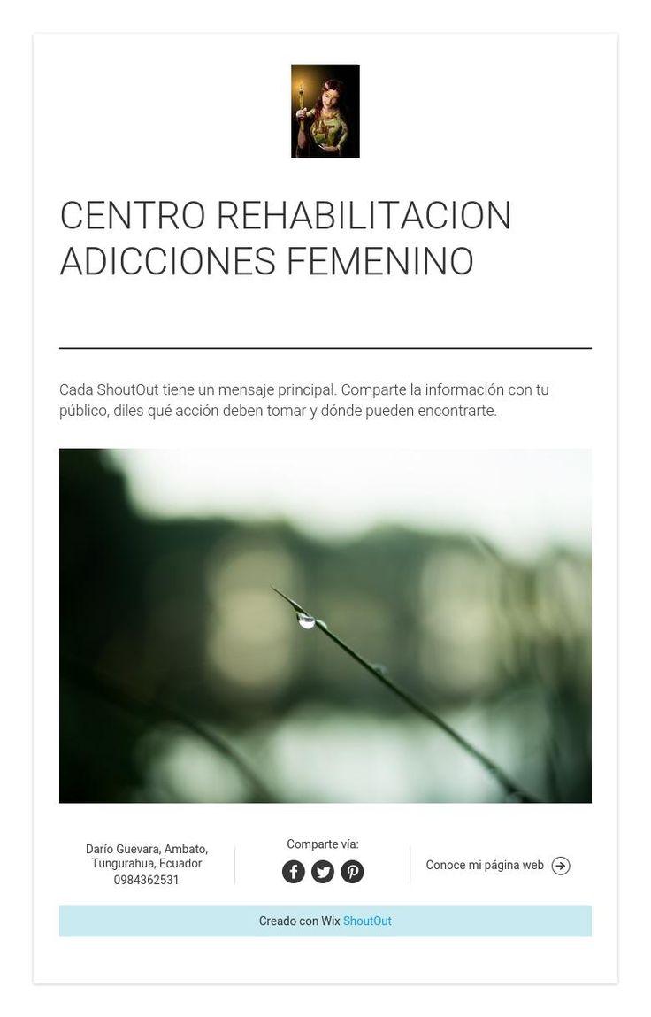 CENTRO REHABILITACION ADICCIONES FEMENINO