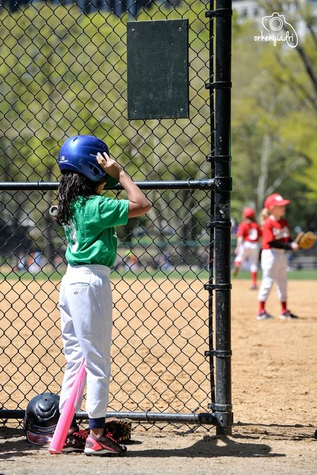 travel photography new york city usa central park america baseball girl preparing match lovely