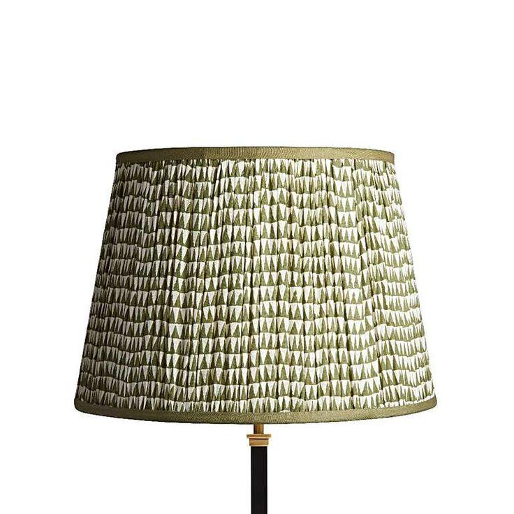 40cm straight empire lampshade in savannah block printed