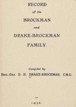 Record of the Brockman and Drake-Brockman family, 1936. http://encore.slwa.wa.gov.au/iii/encore/record/C__Rb1364225__SRecord%20of%20the%20Brockman%20and%20Drake__Orightresult__U__X6?lang=eng&suite=def
