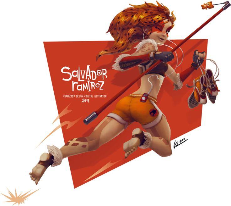 25 Stunning Digital Illustrations and Character Designs by Salvador Ramirez Madriz. Follow us www.pinterest.com/webneel