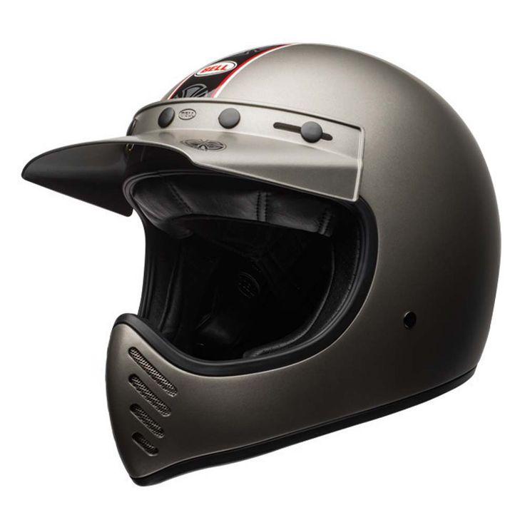 Bell Moto 3 Helmet - Independent Matte Titanium | Motorcycle Helmets | Free UK Delivery - The Cafe Racer
