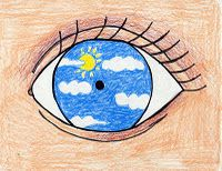What did the character see? Draw the scene in the center of the eye...directions given