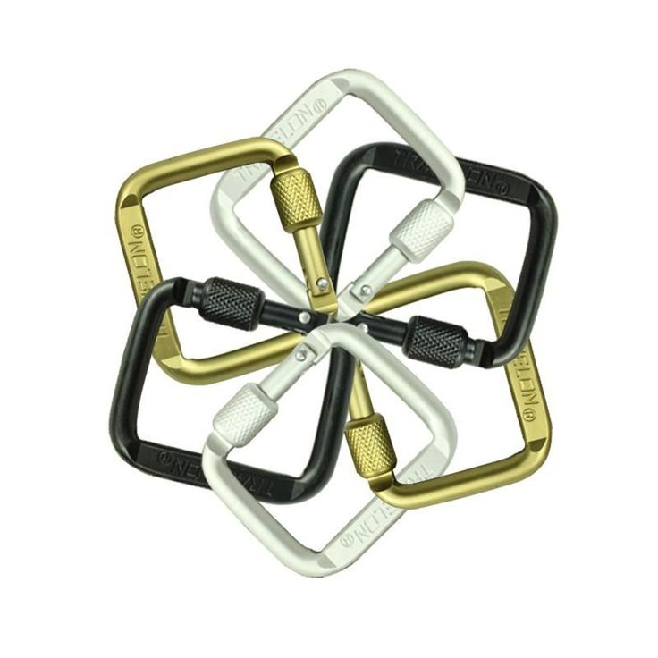 6 PCS MULTI-FUNCTION TOOL ALUMINIUM ALLOY MINI CARABINER BAG OUTDOOR HOOK MOUNTAINEERING CARABINER FOR KEYS BACKPACK BUCKLE