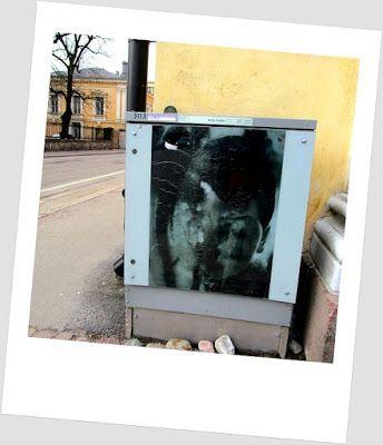 #streetart StreetArtsz: Mika Karhu: Ten years, sähkökaappitaide