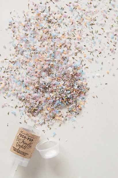 Confetti Push-Pop - anthropologie.com. Need this to celebrate major declaration!