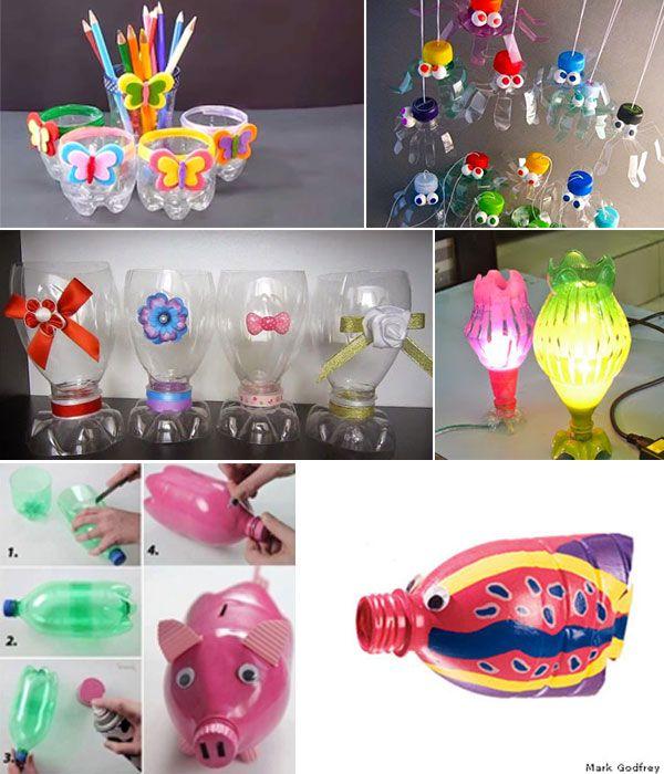 Kerajinan Tangan Sederhana Dari Botol Plastik Bekas