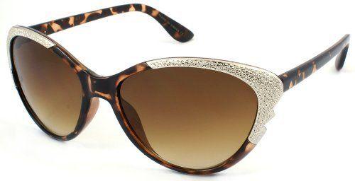 2012 New Lightweight Fashion Plastic Sunglasses with 100% UV Protection Lenses 31678-MIX(DEMI) Edge I-Wear. $8.95