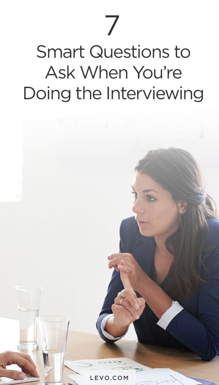 What to do when you are the one asking the questions. www.levo.com #theinterview