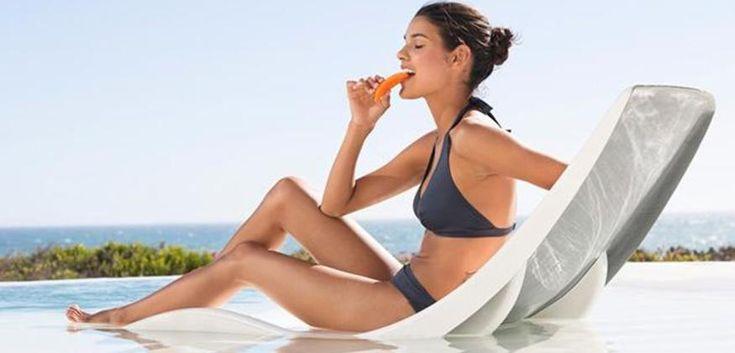 La dieta per un'abbronzatura sicura e più veloce