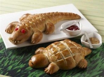 Alligator or Turtle Bread from becomeabetterbaker