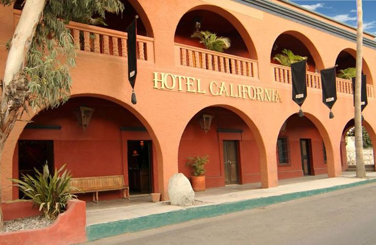 The Hotel California in Todos Santos Mexico - - 5 Reasons to Explore Todos Santos, Baja California Sur #Mexico Cabo's vibrant beachfront and marina certainly have their appeal. But, when you're ready to venture beyond the busy heart of Cabo San Lucas and get a taste of old Baja, hit the road to Todos Santos. About an hour north of Cabo San Lucas on the Pacific Ocean, this destination deserves a day trip – if not several blissful unplugged days! #travel