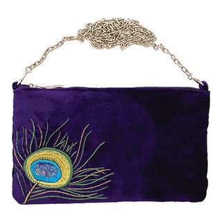 Embellish your winter evenings with our striking new Peacock evening bag.