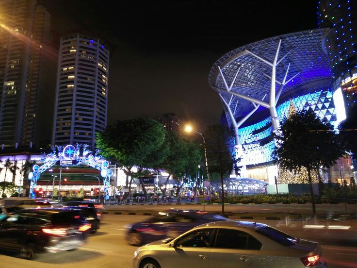 Orchard Road at night during December