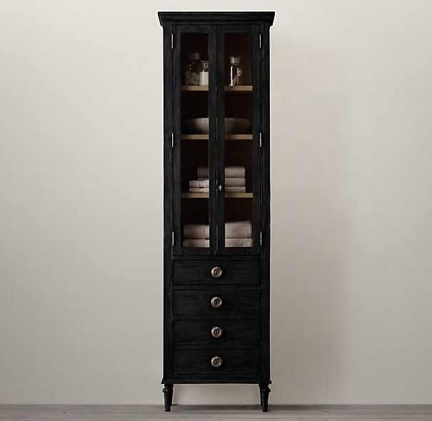 Black Bathroom Storage Cabinet. Maison Tall Bath Cabinet X X Or In Antique Black