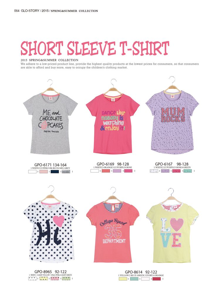 Short sleeve t-shirts for girls  #glostory #fashion #forgirls #ss15 #cute #clothing #fashion #tshirt