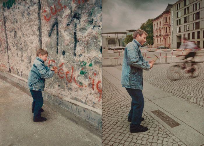 Then and Now Berlin Wall