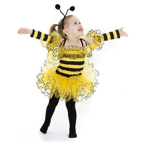 yellow and black bumble bee halloween costume for girls so cute - Bee Halloween
