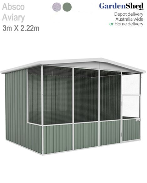 This ABSCO Aviary bird cage measures 2.26m x 1.48m and comes with thick mesh that is tough.