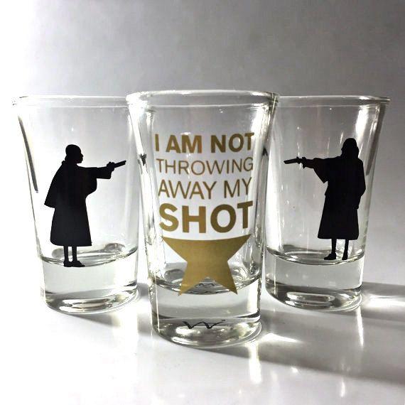 3 PACK Hamilton Broadway Musical Shot Glass Set by MindAtWerk