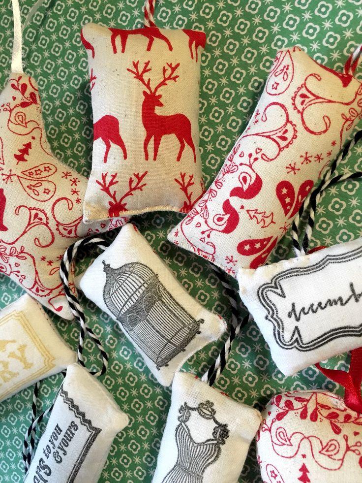 Scandinavian Fabric Christmas Ornaments