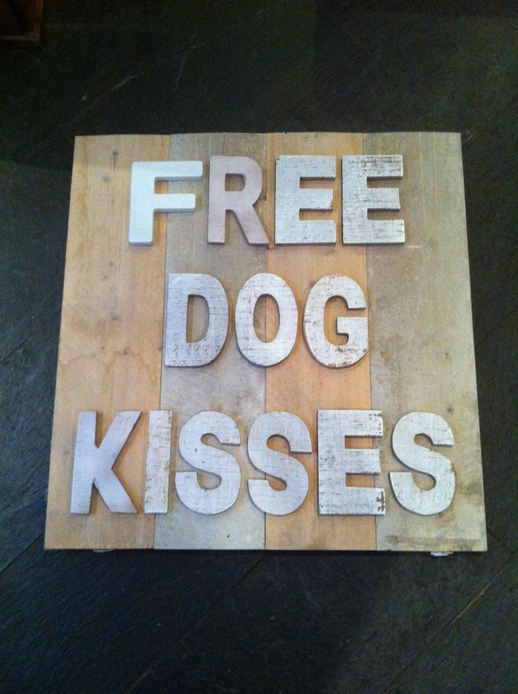 Diy bord; free dog kisses
