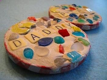 Father's Day Mosaic Coasters - Father's Day Craft