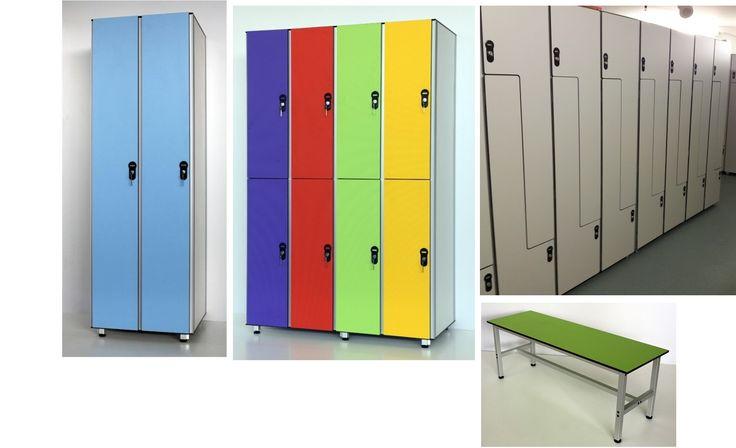 SANIKAB. Локеры шкафчики модульная секционная мебель для спортивных и производственных раздевалок, Hpl мебель, системы профилей для производства секционной меб