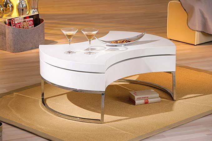 Inter Link 20800890 Couchtisch Weiss Hochglanz Wohnzimmertisch Wohnzimmer Tisch Mit Stauraum Drehbar Wohnzimmer Couchtisch Wohnzimmertisch Couchtisch Modern