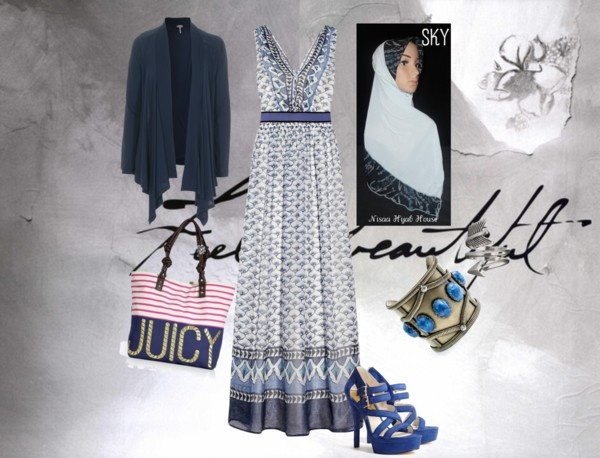 """Pretty In blue"" by sanaa-muneer on Polyvore"