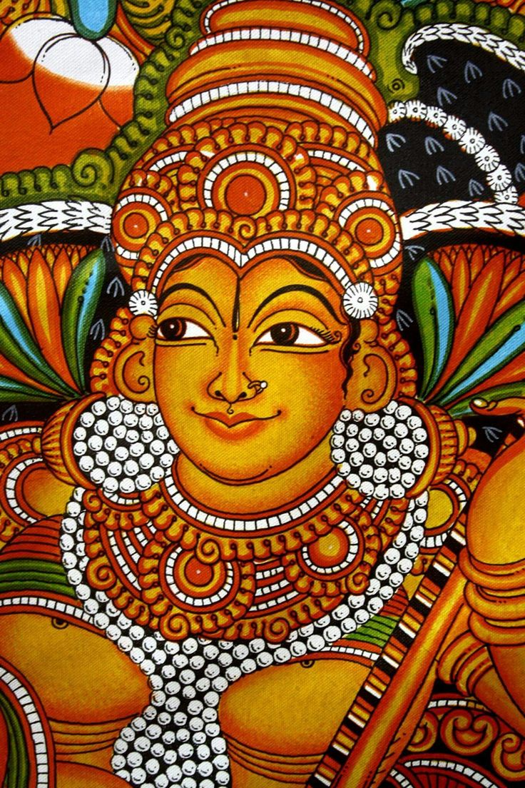 659 best kerala mural paintings images on pinterest for Canvas mural painting