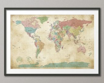Best Maps Images On Pinterest Maps Chalk Board And Magnet Boards - World map political with country names