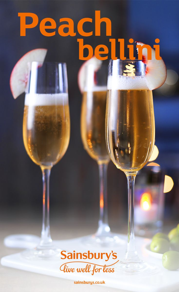 Mix Sainsbury's Blanc De Noirs Champagne with a peach liquer and you've got the perfect bellini. This classic champagne cocktail is perfect for Christmas day brunch or even New Years Eve.
