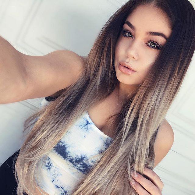 Les 25 Meilleures Id 233 Es Concernant Cheveux Couleur Ombr 233 E
