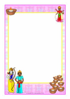 Diwali A4 page borders | Religion: Hinduism, buddhism & japanese ...
