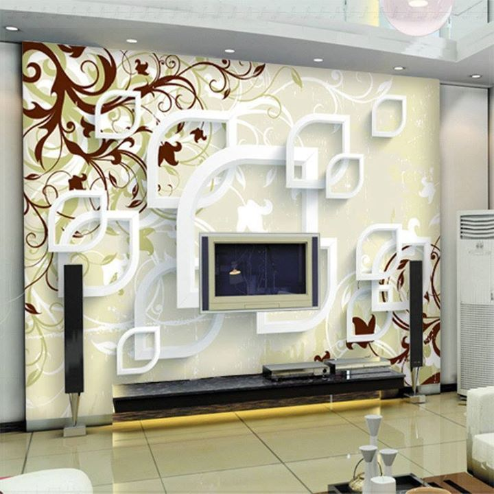 Album Foto Ruang Keluarga Dengan Wallpaper 3D