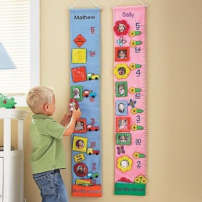 Kids Personalized Fabric Growth Chart/Wall Art
