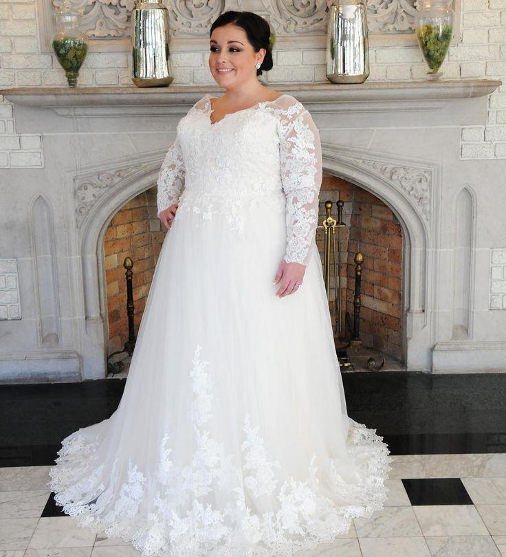 The 25 best custom wedding dress ideas on pinterest sweetheart elegant long sleeve wedding gowns for brides of all sizes junglespirit Choice Image