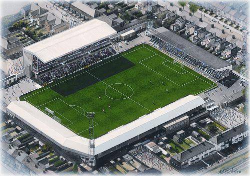 Blundell Park(Grimsby Town) @ sportsstadiaart.com
