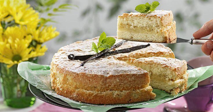 Recept herrgårdskaka med vaniljfyllning