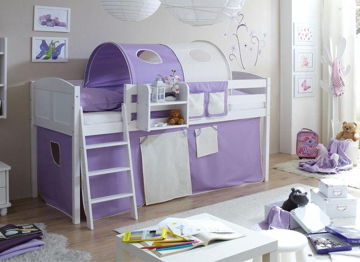 Kinderzimmer Lila Beige ticaa hochbett eric country kiefer natur lila beige jetzt bestellen unter https Mbel Kinderzimmer Kinderzimmer Einrichtung Beige Lila Kiefer Purple