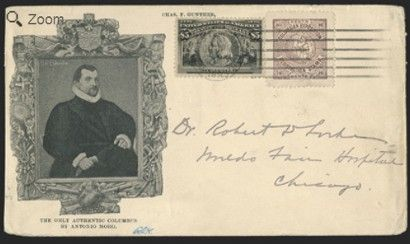 $5 Columbian Issue cover may bring $15,000 at stamp auction #stamps #philately